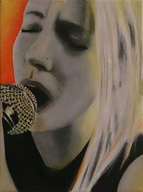 Acrylmalerei, Portrait, Malerei, Gefühl