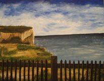 Landschaft, England, Acrylmalerei, Küste
