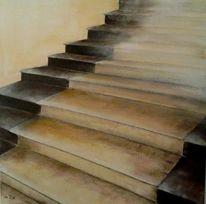 Treppe, Aufgang, Licht, Alt