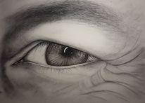 Blick, Kreide, Iris, Zeichnen