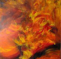 Spachteltechnik, Rot, Gefühl, Acrylmalerei