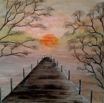 Fantasie, Sonnenuntergang, Idylle, Natur