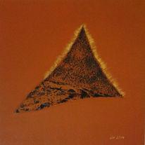 Abstrakt, Strukturpaste, Stein, Acrylmalerei