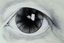 Zeichnung, Ausdruck, Augen, Portrait
