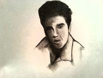Schwarz weiß, Zeichnungen, Elvis