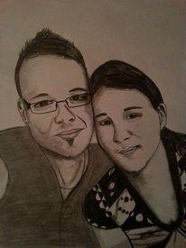 Schwarz weiß, Portrait, Frau, Zeichnungen