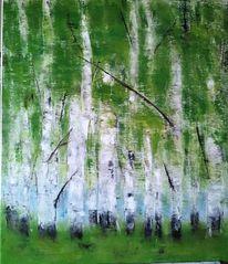 Malerei, Baum, Ölmalerei, Natur