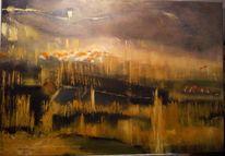 Baum, Ölmalerei, Malerei, Abstrakt