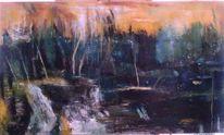 Wasser, Ölmalerei, Natur, Abstrakt