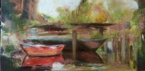 Baum, Sumpf, Malerei, Abstrakt