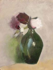 Rose, Vase, Blumen, Pflanzen