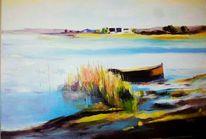 Malerei, Welle, See, Dunst