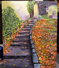 Naturpark, Acrylmalerei, Malerei,