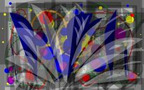 Malerei, Blumen, Digitale kunst