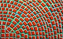 Rundes quadrat, Abstrakt, Malerei, Quadrat