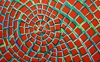 Spiral quadrat, Abstrakt, Malerei, Quadrat