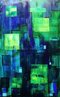 Grün, Blau, Gelb, Quadrat