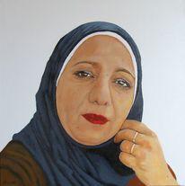 Acrylmalerei, Portrait, Frau, Malerei