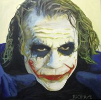 Joker, The dark knight, Heath ledger, Malerei