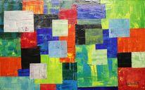 Farben, Quadrat, Kommunizierende, Malerei