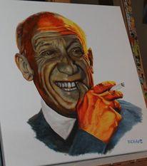 Pablo picasso portrait, Malerei