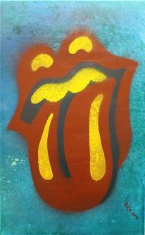 Pop art, Rolling stones, Zunge, Airless experience iii