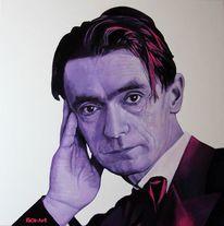 Acrylmalerei, Waldorf, Rudolf steiner, Portrait