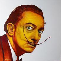 Dalí, Acrylmalerei, Portrait, Malerei