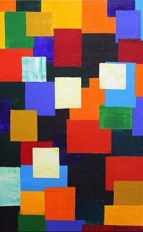 Unschuldig, Farben, Quadrat, Malerei