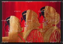 Kunst leinwand bilder, Gelb, 3d, Acrylmalerei