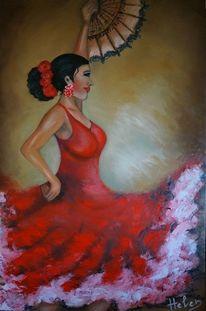 Kunstwerk, Flamenco, Tanz, Malerei
