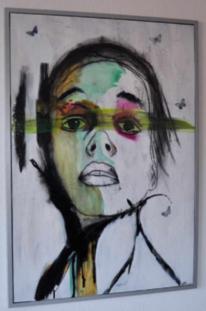 Portrait, Acrylmalerei, Abstrakt, Menschen