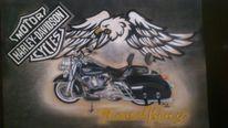Motorrad, Malerei, King