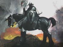 Pferde, Krieger, Malerei