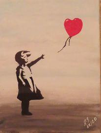 Mädchen, Liebe, Herz, Schwarz