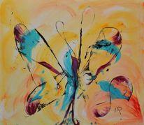 Acrylmalerei, Modern, Gelb, Malen