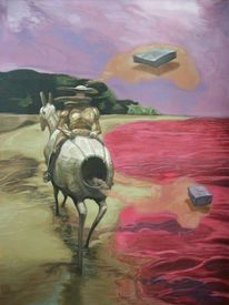 Malerei, Surreal, Landschaft, Don quijote