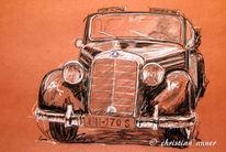 Cabrio, Mercedes, Benz, Zeichnungen