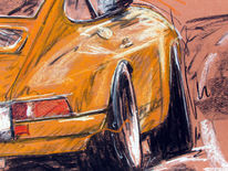 911, Pastellmalerei, Porsche, Oldtimer