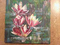 Malerei, Natur, Blumen, Seerosen