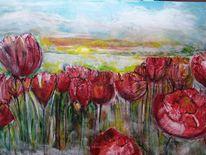 Tulpen, Blumen, Natur, Malerei