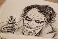 Kohlezeichnung, Joker, Portrait, Zeichnungen