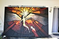 Schatten, Acrylmalerei, Glaube, Holz