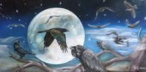 Mond, Kälte, Landschaft, Malerei