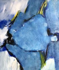 Abstrakt, Fantasie, Blau, Weiß