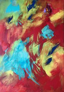Bunt, Treiben, Sommer, Malerei