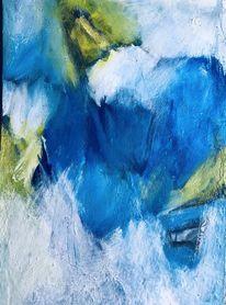 Serie, Blau, Malerei,