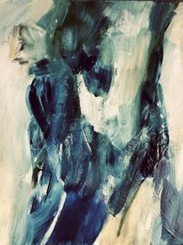 Traum, Blau, Blüte, Malerei
