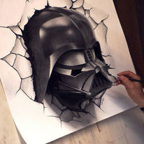 Gemälde, How to draw, Darth vader, Zeichnung