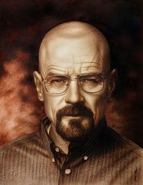 Mensch malen, Portrait malen, Porträt zeichnen, Heisenberg
